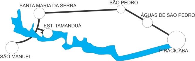 Mapa da Estrada/Percurso via terra ao Tamanduá!